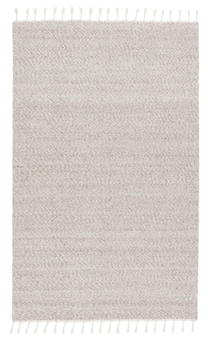 Adria Indoor/Outdoor Solid Cream & Grey Rug by Jaipur Living