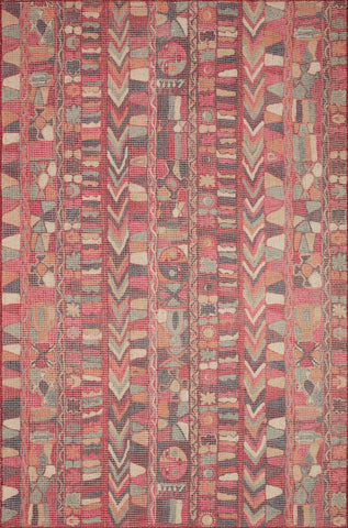 Malik Rug in Fuchsia / Multi by Justina Blakeney x Loloi