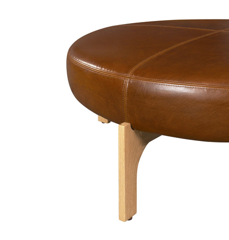Manning Leather Ottoman
