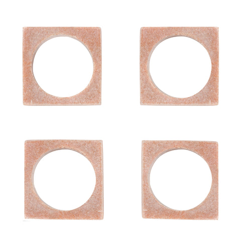 Set of 4 Modernist Napkin Rings in Pink Marble design by Sir/Madam