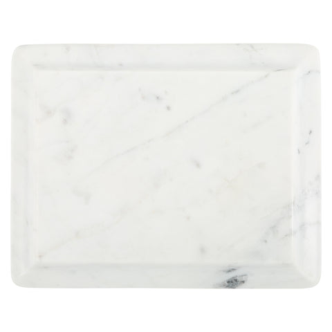 Small Ogee Slab in White Marble