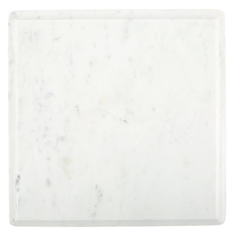 Large Ogee Slab in White Marble