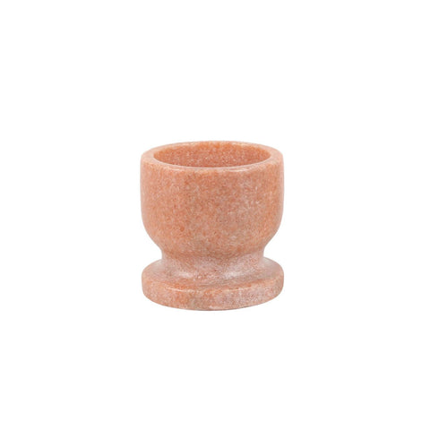 Egg Cup in Pink Marble
