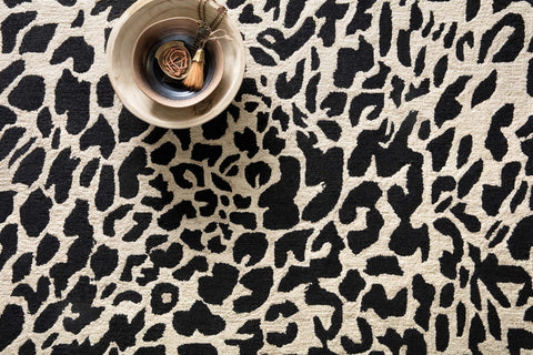 Masai Rug in Black & Ivory by Loloi