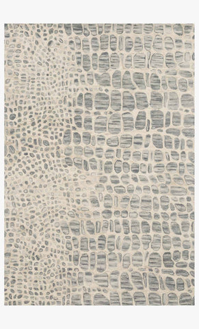 Masai Rug in Silver Grey & Ivory by Loloi