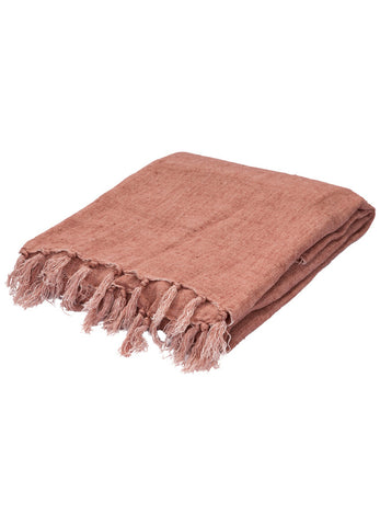 Madura Throw in Mocha Mousse design by Jaipur