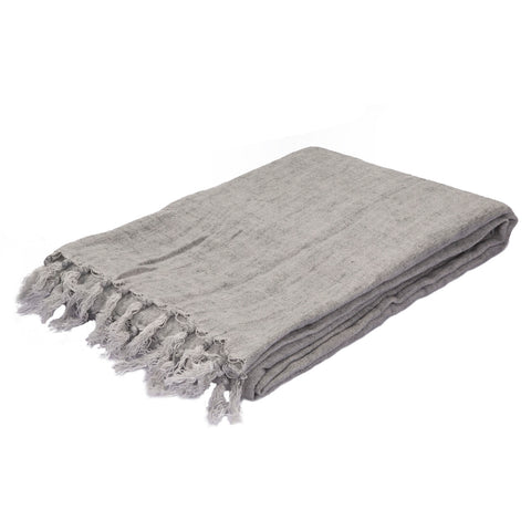 Lisabet Solid Gray Throw