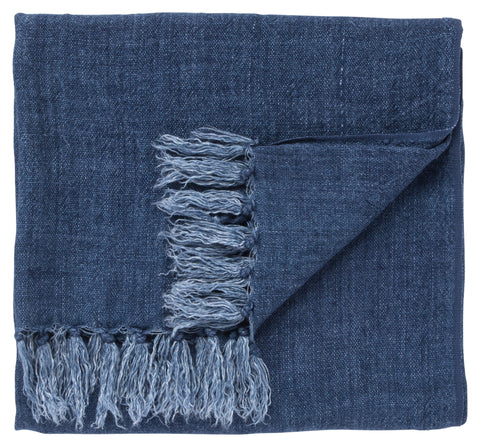Lisabet Solid Blue Throw