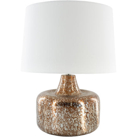Micah MCH-001 Table Lamp in Antiqued Copper & White by Surya