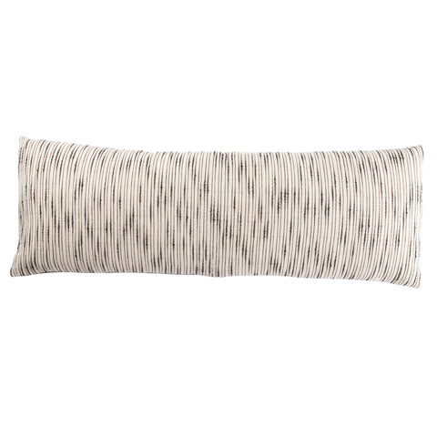 Linnean Stripe White & Gray Pillow design by Jaipur Living