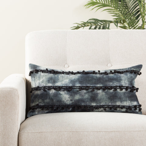 Fera Ombre Indigo & White Pillow design by Jaipur Living