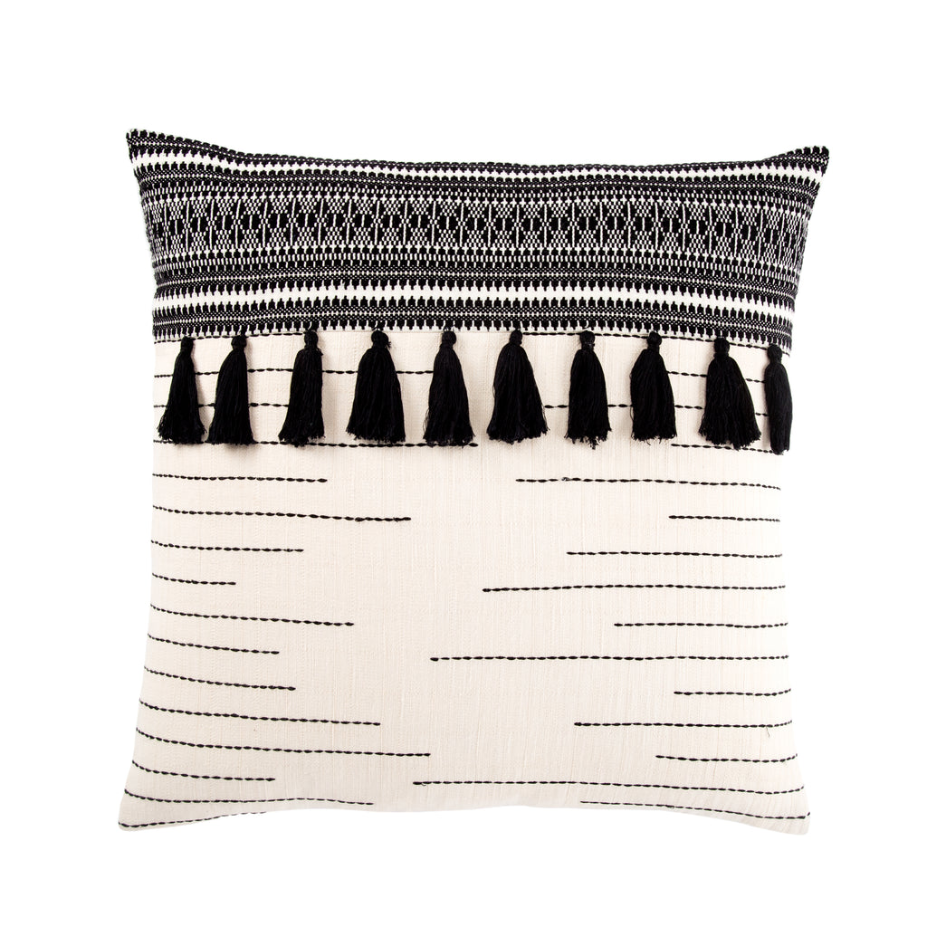 Palace Tribal Black & Ivory Pillow design by Jaipur Living