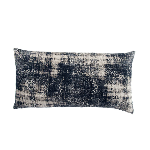 Holi Damask Indigo & Gray Pillow design by Jaipur Living