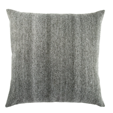 Scandi Solid Dark Gray & White Pillow design by Jaipur Living