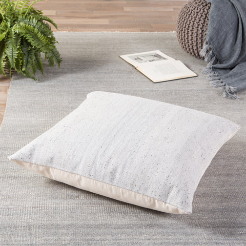 Scandi Solid Light Gray & White Pillow design by Jaipur Living