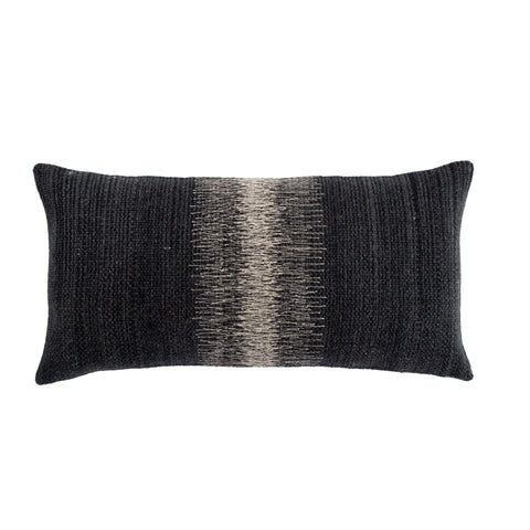 Aravalli Ombre Black & Gray Pillow design by Jaipur Living