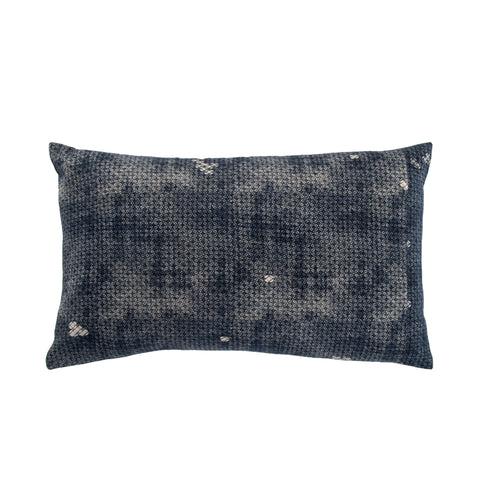Amer Trellis Indigo & Gray Pillow design by Jaipur Living