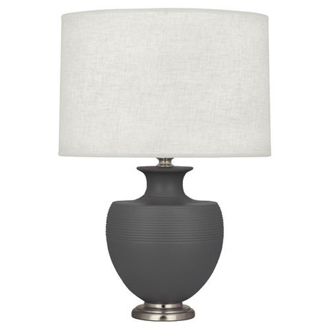 Michael Berman Atlas Matte Ash Table Lamp design by Robert Abbey