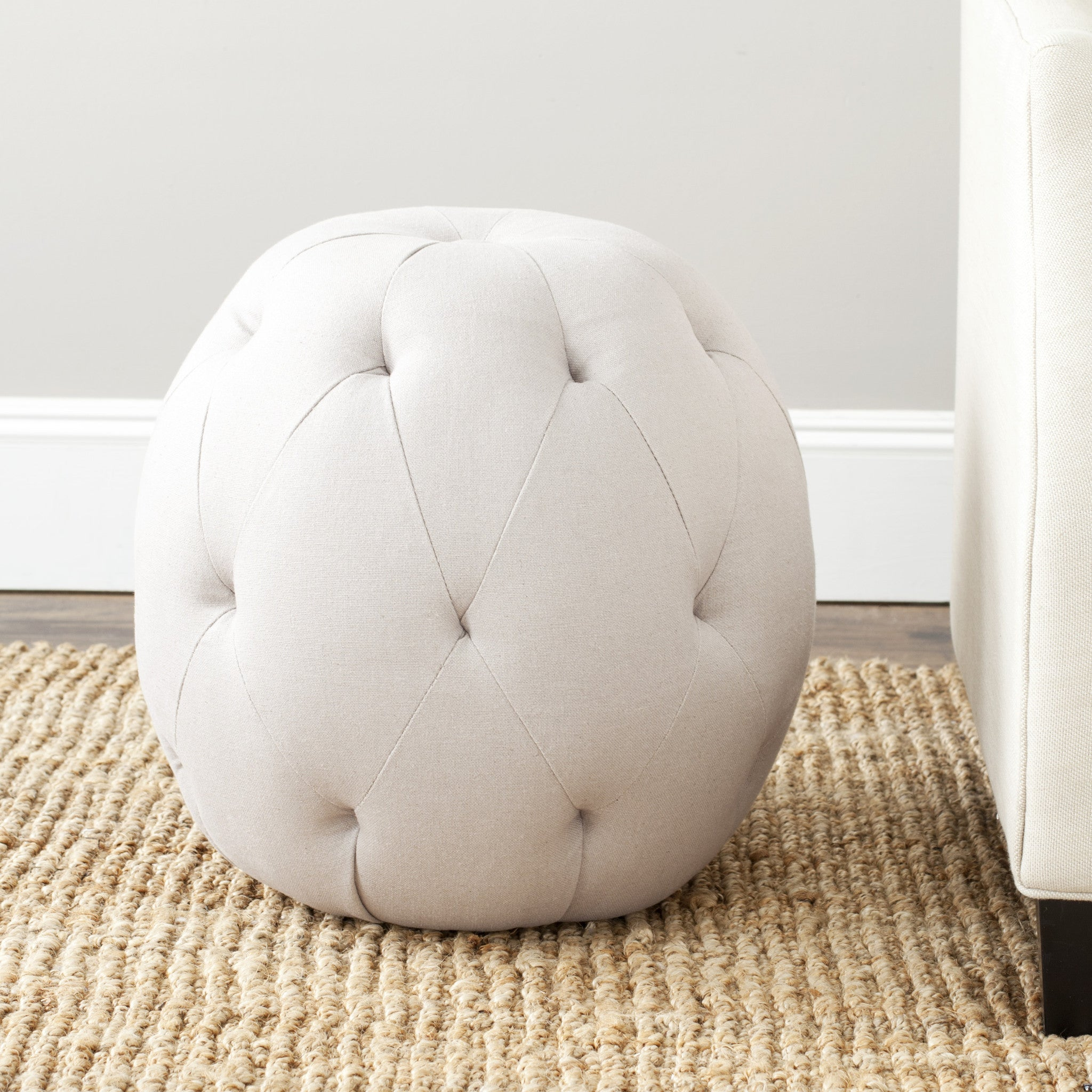 Santiago Ottoman in Taupe design by Safavieh