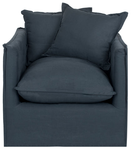Joey Arm Chair in Blue design by Safavieh