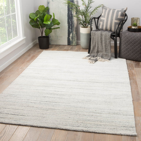 Vassa Solid Rug in Blanc De Blanc & Smoked Pearl design by Jaipur