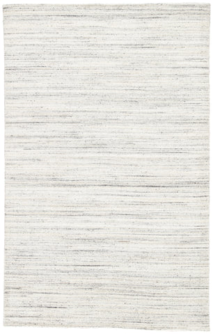 Vassa Handmade Solids & Heathers White & Gray Area Rug