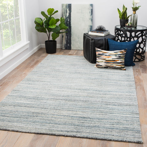Vassa Solid Rug in Citadel & Blue Mirage design by Jaipur