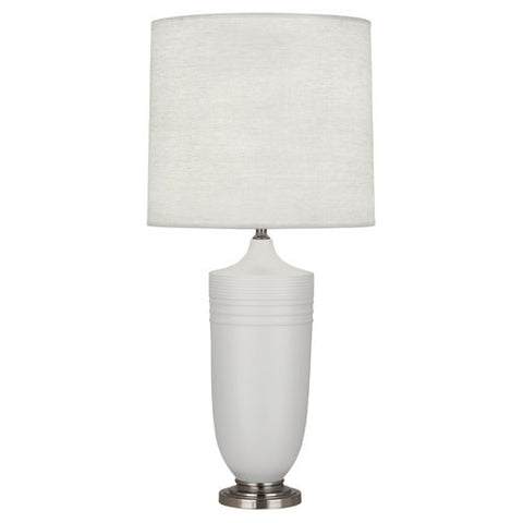 Michael Berman Hadrian Matte Dove Table Lamp design by Robert Abbey