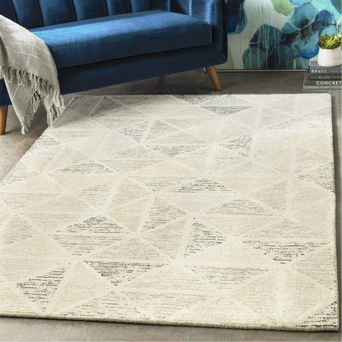 Melody MDY-2004 Hand Tufted Rug in Cream & Charcoal by Surya