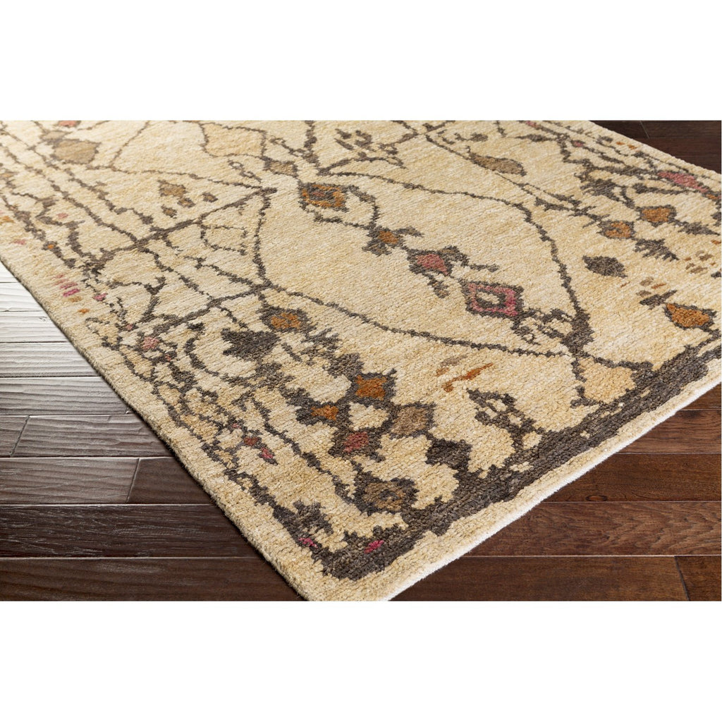 Medina MED-1110 Hand Knotted Rug in Beige & Camel by Surya
