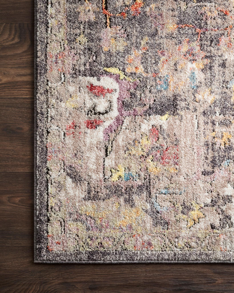Medusa Rug in Charcoal & Fiesta by Loloi