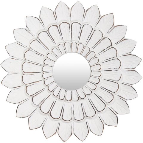 Maneka MEK-001 Mirror in Antiqued White by Surya
