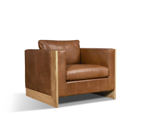 Mendenhall Leather Chair in Cognac