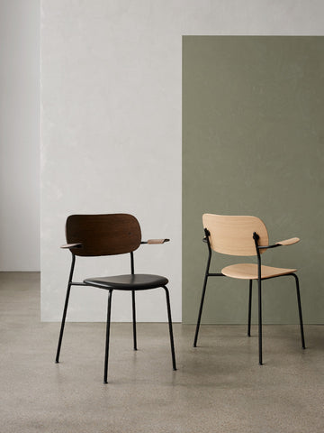 Co Chair with Armrest Wood Seat in Various Colors