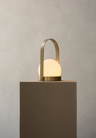 Carrie Portable LED Lamp in Brushed Brass