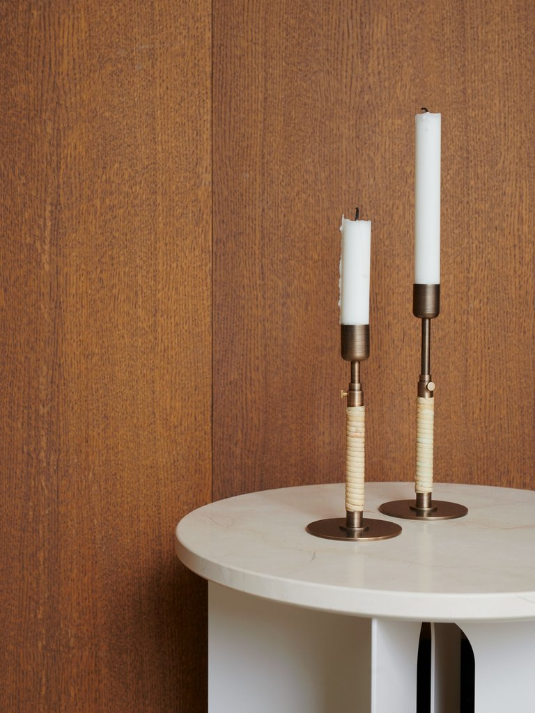 Duca Candle Holder in Various Finishes by Menu