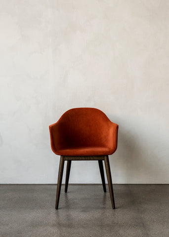 Harbour Chair, Wood Legs + Upholstered Shell in Assorted Colors by Menu