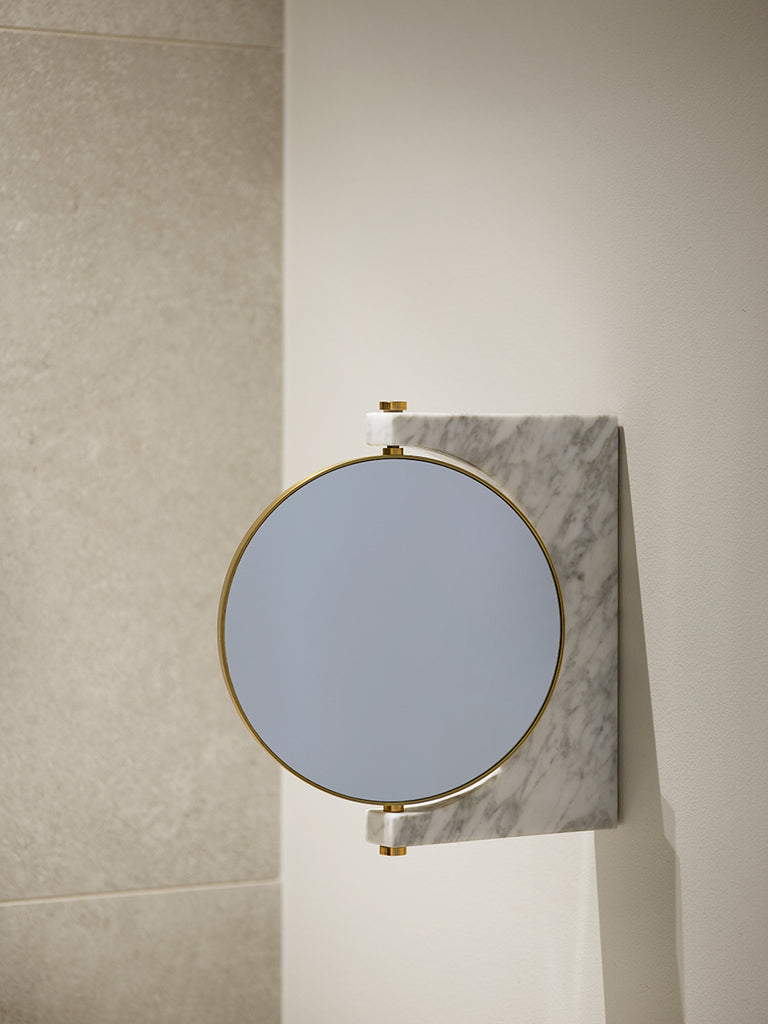Pepe Wall Marble Mirror in various colors by Menu