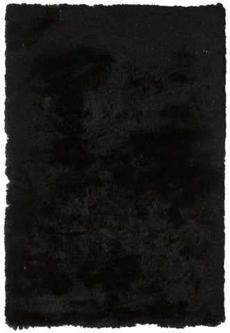 Mercury Collection Hand-Woven Area Rug in Black