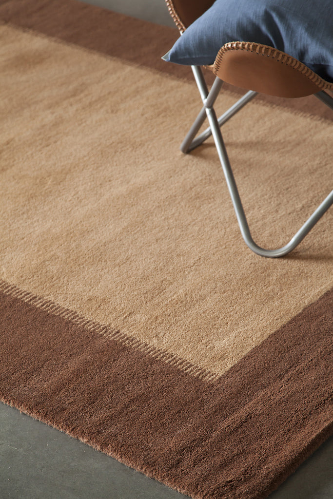 Metro Collection Hand-Tufted Area Rug in Brown & Light Brown design by Chandra rugs