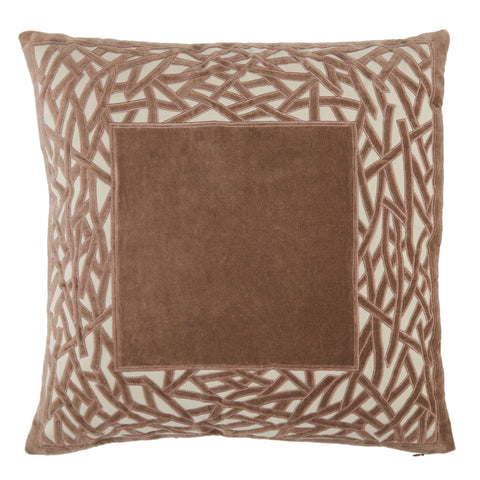 Birch Trellis Pillow in Brown by Jaipur Living