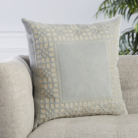 Azilane Trellis Pillow in Light Blue by Jaipur Living