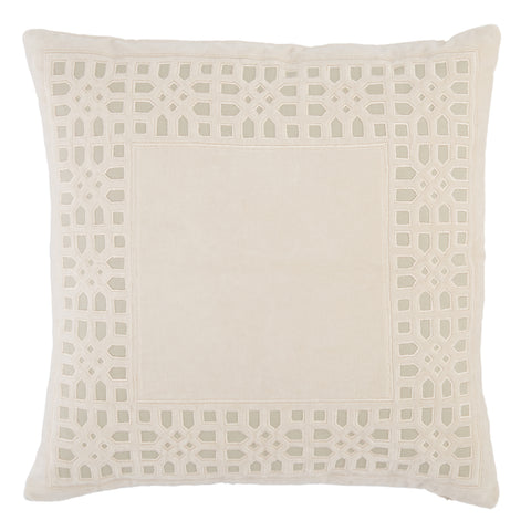 Azilane Trellis Pillow in Beige by Jaipur Living