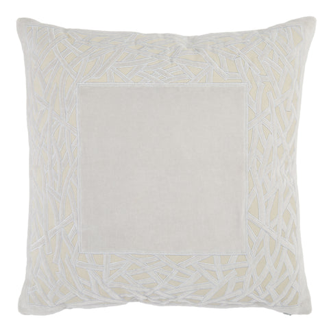 Birch Trellis Pillow in Gray by Jaipur Living
