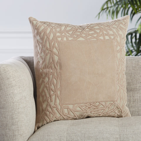 Birch Trellis Pillow in Tan by Jaipur Living