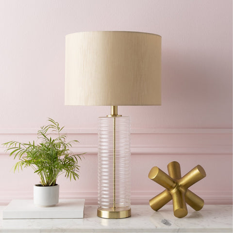 Magna MGA-001 Table Lamp in Beige & Gold by Surya