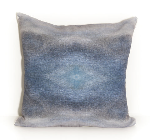 Blue Eye Outdoor Throw Pillow by elise flashman