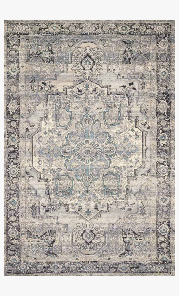 Mika Rug in Grey & Blue by Loloi