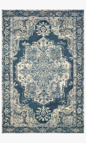 Mika Rug in Dark Blue by Loloi