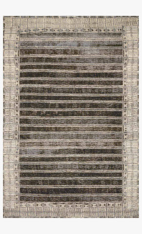 Mika Rug in Charcoal & Ivory by Loloi